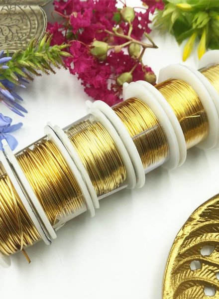 CRAFT WIRE 26GA ROUND 15YD NON TARNISH GOLD
