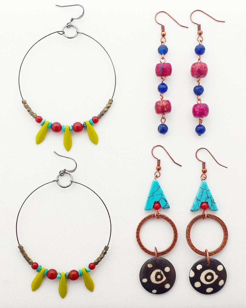 Class: Earring Design Basics August 17, Saturday 11:30am-1:30pm