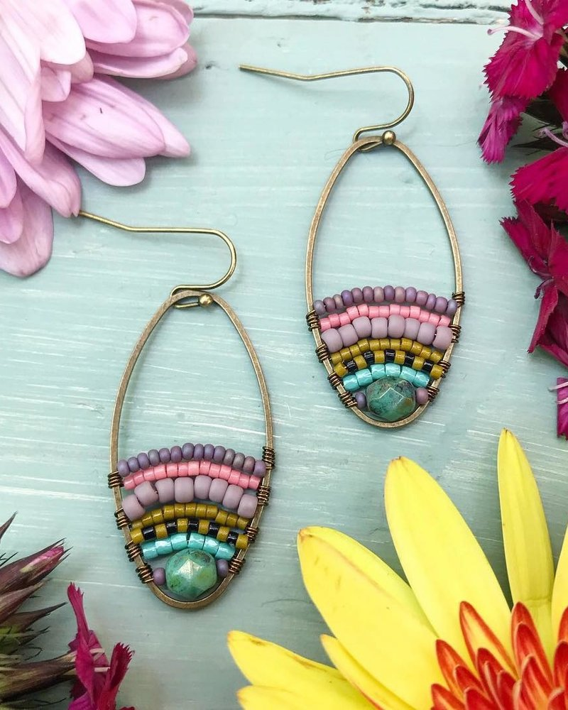 Class: Beaded Loop Earrings, September 21, Saturday 3:00am-5:00pm