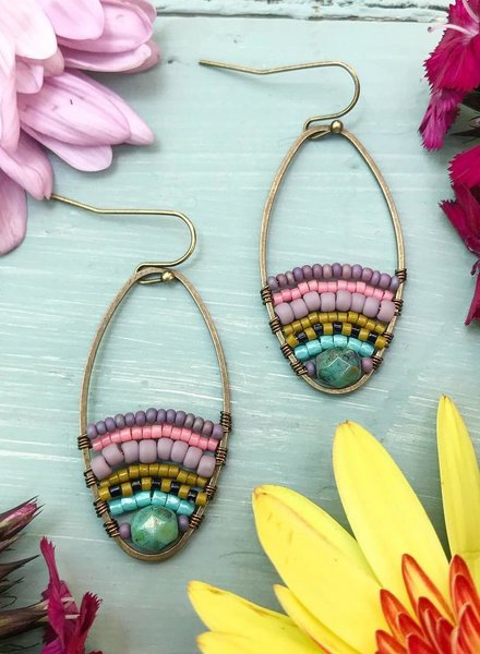 Class: Beaded Loop Earrings, August 3, Saturday 11:30am-1:30pm