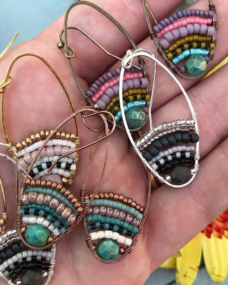 Class: Beaded Loop Earrings, August 3, Saturday 11:30am-1:30pm