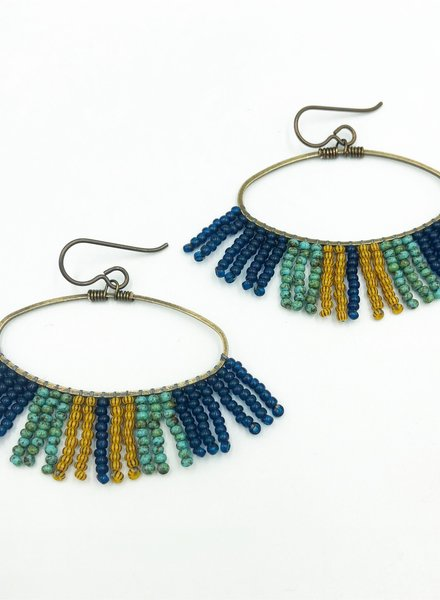 Class: Beaded Fan Earrings, August 28, Wednesday 6:00pm-8:30pm