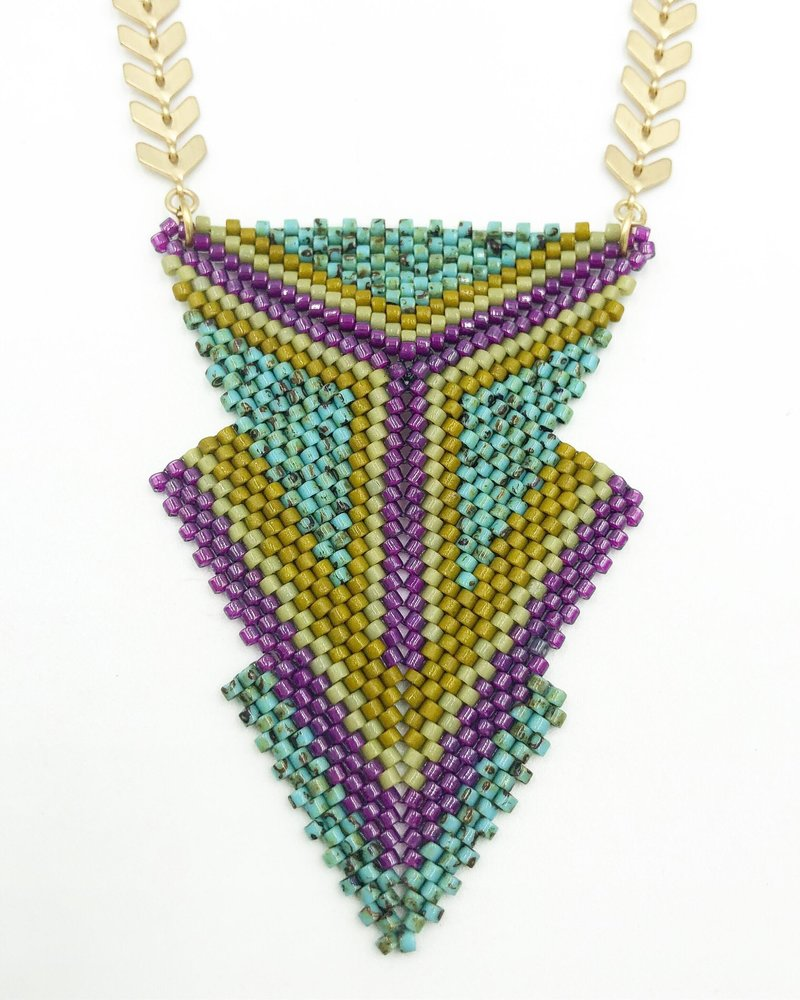 Class: Peyote Triangles, September 21,  Saturday 11:30am-2:30pm