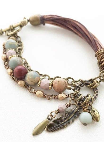 Class: Rustic Mix Bracelet September, 11 Wednesday 6:00pm-8:30pm