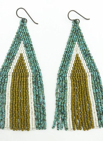 Class: Triangle Fringe Earrings, September 8, Sunday 11:30am-2:30pm