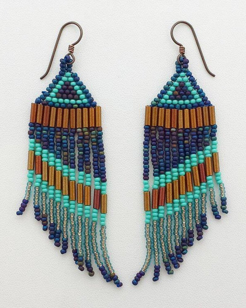 Class: Triangle Fringe Earrings, July 27, Saturday 11:30am-2:30pm