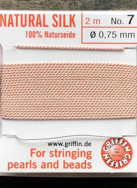 SILK BEAD CORD- LIGHT PINK-  #7