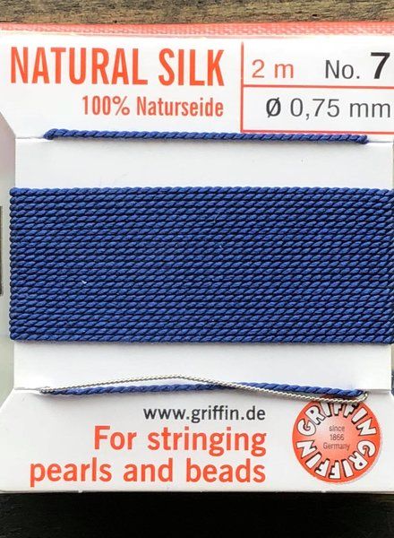 SILK BEAD CORD- DARK BLUE- #7