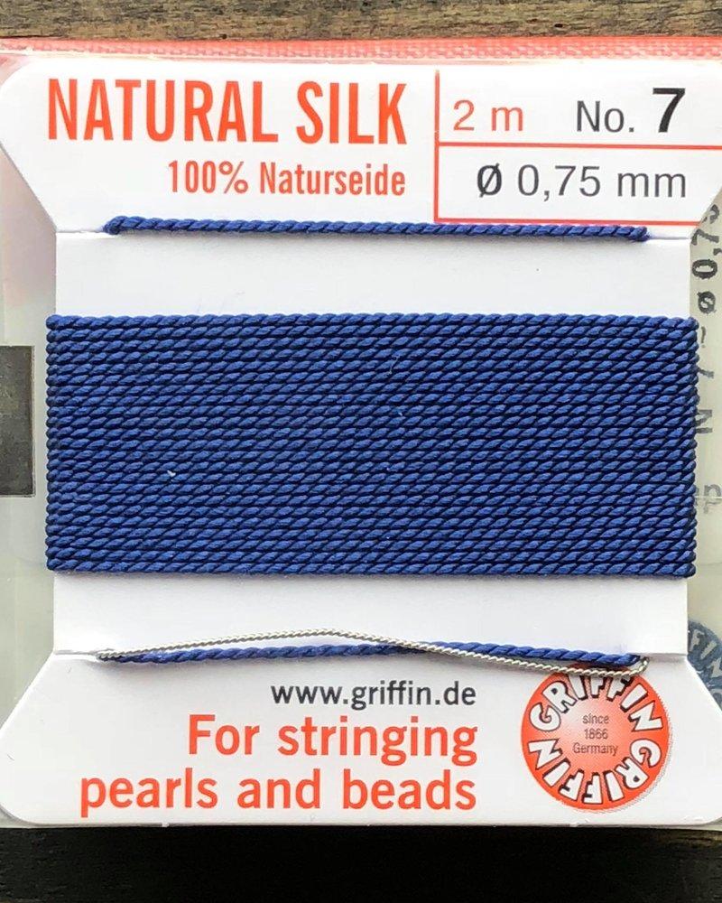 SILK BEAD CORD- DARK BLUE- #7