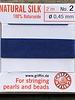 SILK BEAD CORD- DARK BLUE-  #2