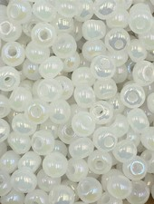 SIZE 6/0 #404 White Pearl Rainbow