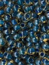 SIZE 6/0 #492 Topaz Blue Lined