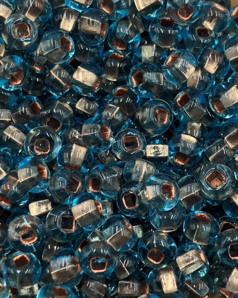 SIZE 6/0 #874 Light Aqua Clear Lined
