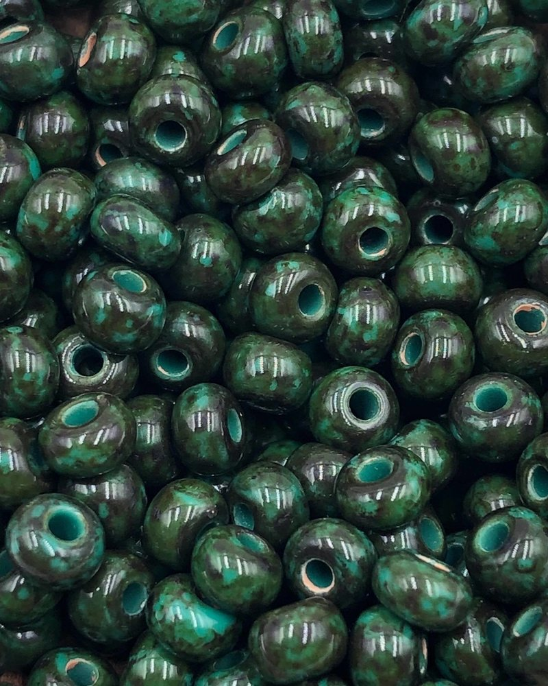 SIZE 6/0 #1380 Green Travertine