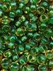 SIZE 6/0 #784 Topaz Green Lined Rainbow