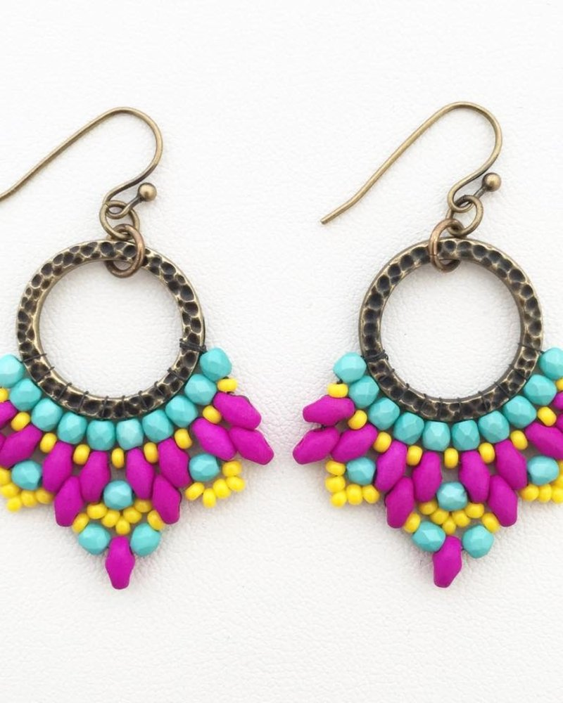 Class: Carnival Earrings October 27th, Sunday 11:30am-2:00pm