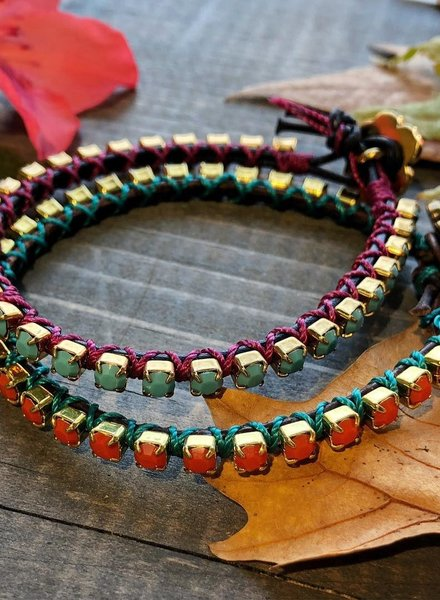 Class: Rhinestone Leather Bracelet December 7th, Saturday 2:30pm-5:00pm
