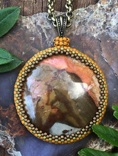 Class: Beaded Cabochon Bezel January 25th, Saturday 2:30pm-5:00pm