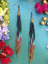 Class: Beaded Fringe Earrings January 16th, Thursday 6:00pm-8:30pm