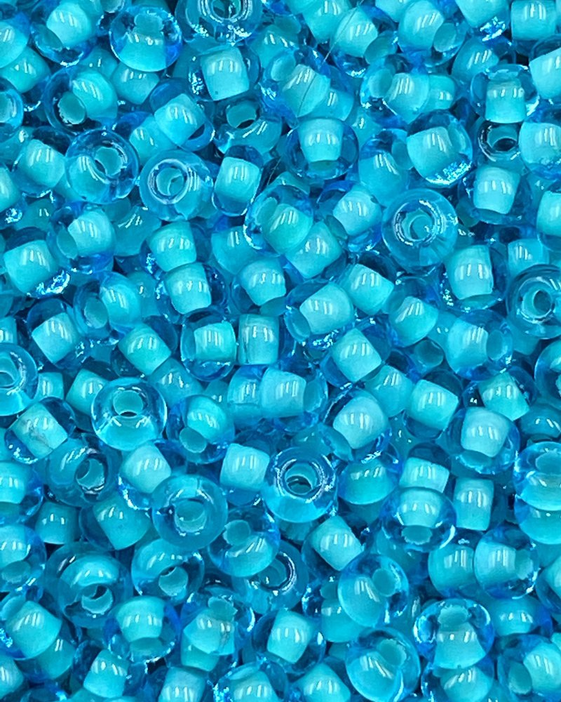 SIZE 8/0 #177  Aqua Teal lined