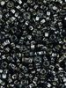 SIZE 8/0 #30 Black Diamond Silver Lined