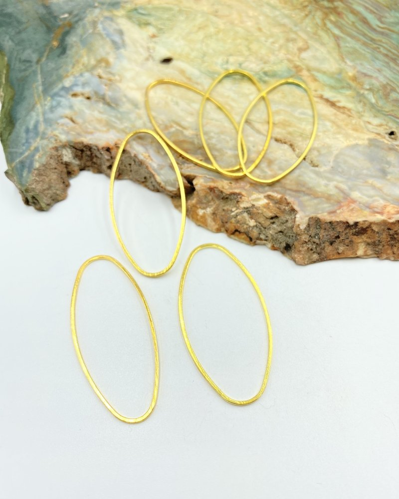 Oval Wire Frame-GOLD 6pc.