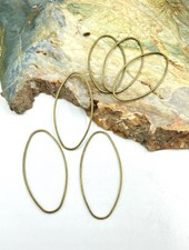Oval Wire Frame-Brass 6pc.