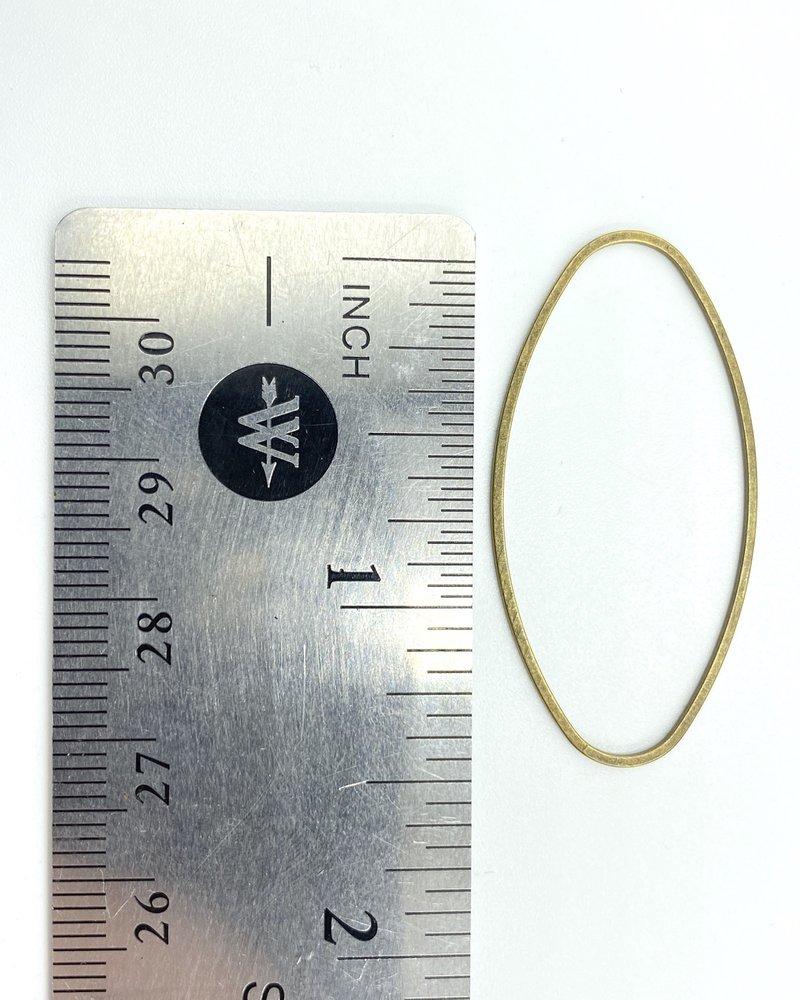 Oval Wire Frame-Brass 6pc.