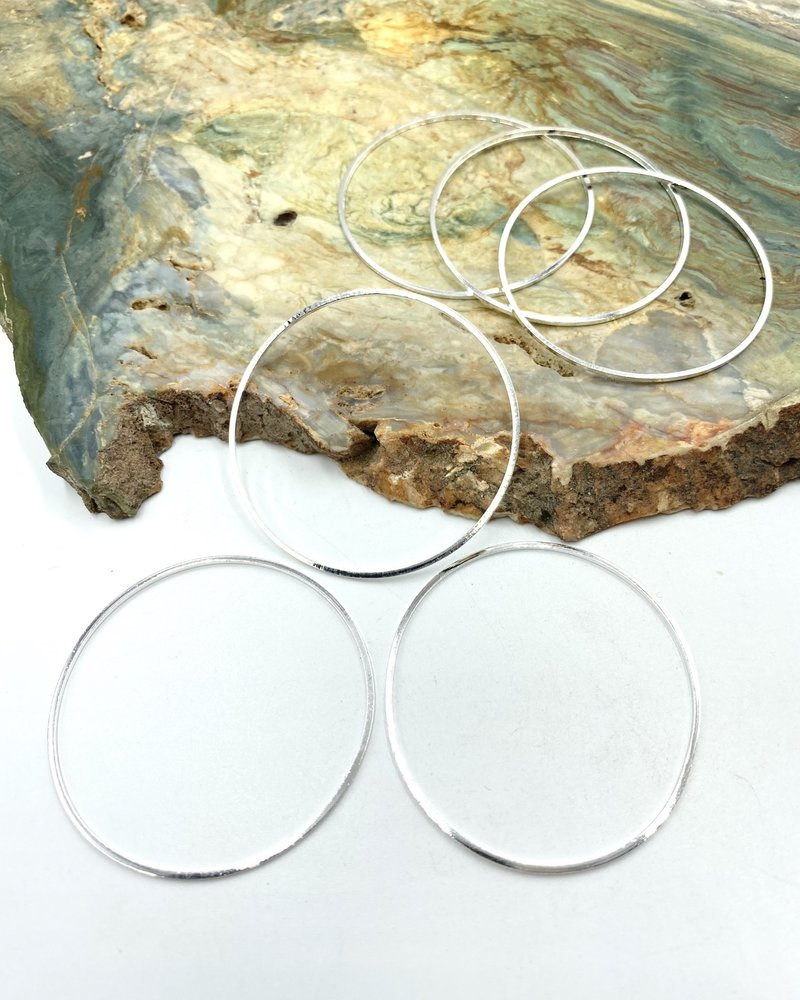 Large Circle Wire Frame-SILVER 6pc.