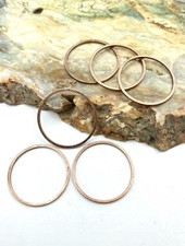 Small Circle Wire Frame-ANT. COPPER-6pc.