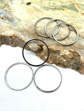 Small Circle Wire Frame-GUN METAL-6pc.
