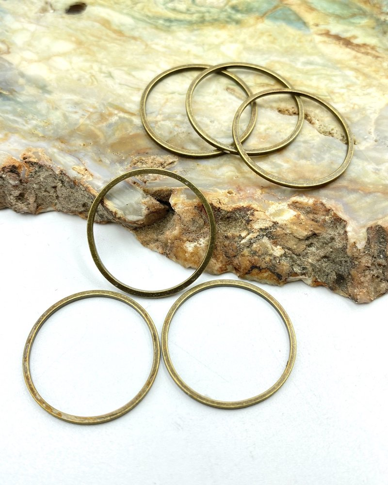 Small Circle Wire Frame- ANTIQUE BRASS-6pc.