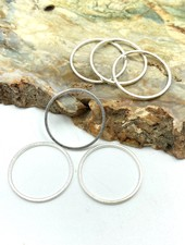 Small Circle Wire Frame-SILVER-6pc.