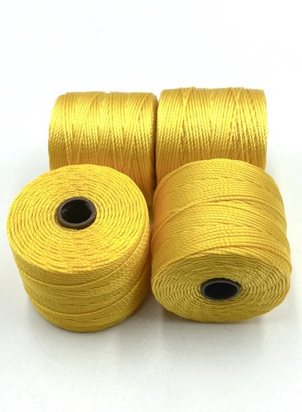 S-LON BEAD CORD GOLDEN YELLOW 77YD