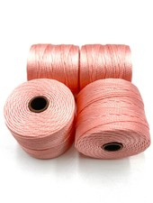 S-LON BEAD CORD CORAL PINK 77YD