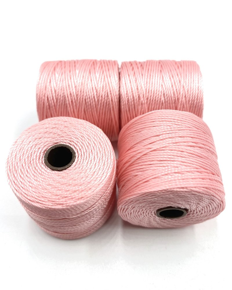 S-LON BEAD CORD BUBBLEGUM (LIGHT PINK) 77YD