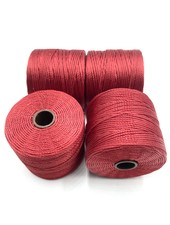 S-LON BEAD CORD: RED HOT 77YD