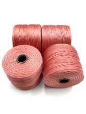 S-LON BEAD CORD: CHINESE CORAL 77YD