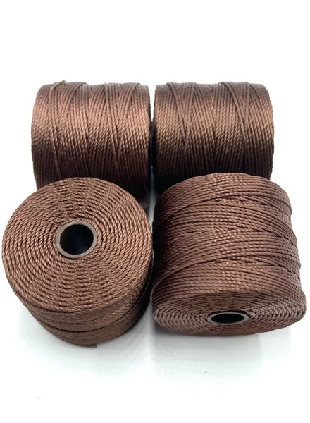 S-LON BEAD CORD BROWN 77YD