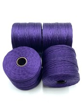 S-LON BEAD CORD: PURPLE 77YD