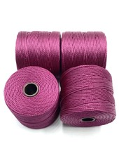 S-LON BEAD CORD (RASP) WINEBERRY 77YD