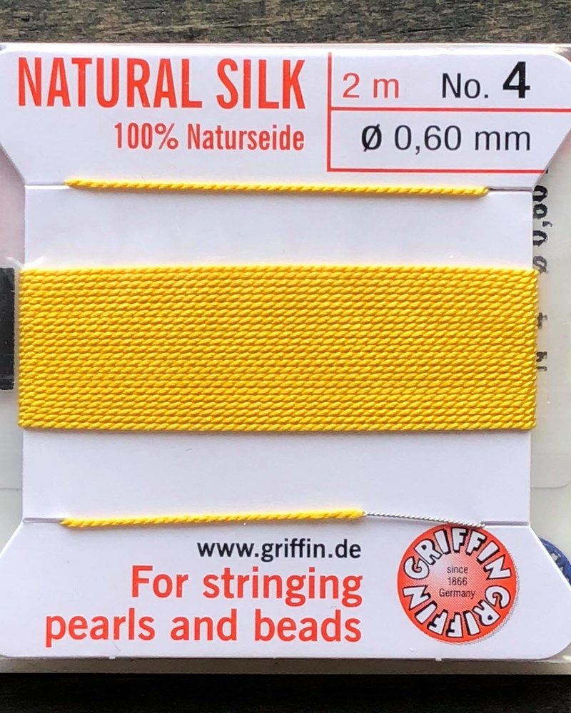 SILK BEAD CORD- YELLOW- #4