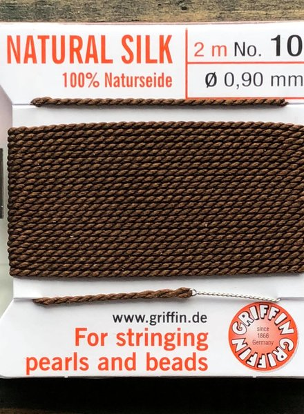 SILK BEAD CORD- BROWN-  #10