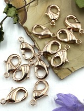 Rose Gold Lobster Claw Solid Brass 12x7mm 12pc.