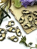 Antique Brass Lobster Claw Solid Brass 9x5mm 12pc.