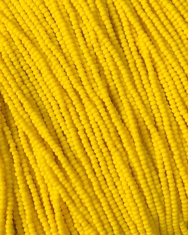 SIZE 11/0 #132m Dk. Yellow Matte