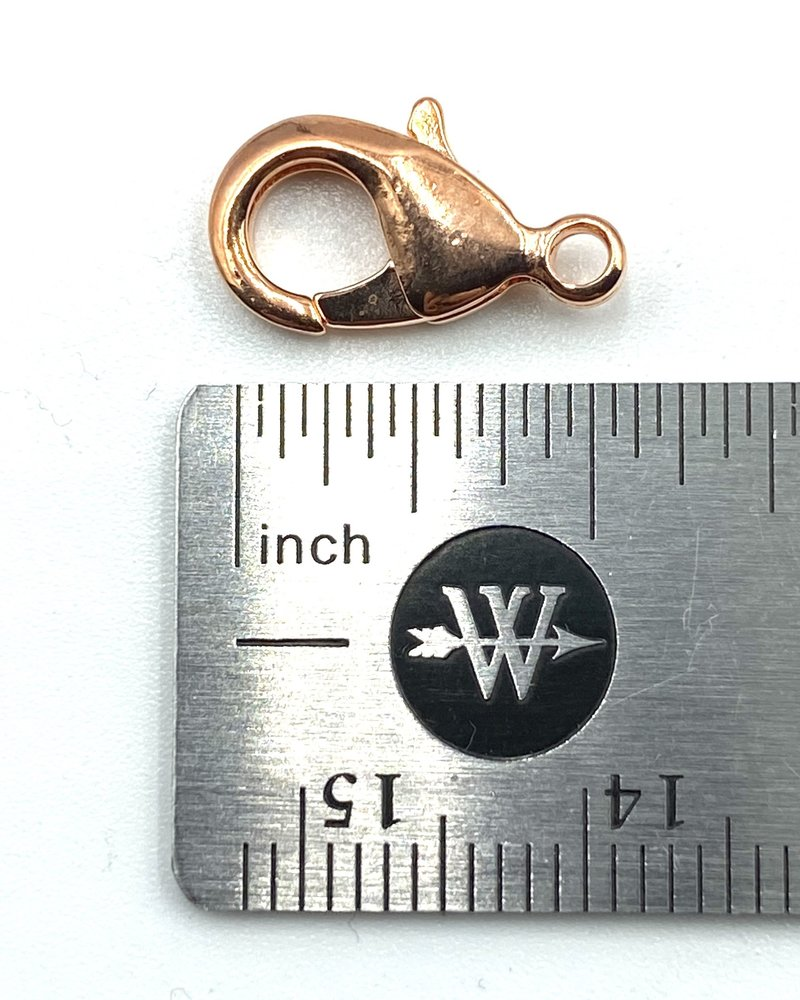Copper Lobster Claw Solid Brass 15x9mm 12pc.