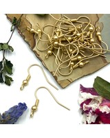 SATIN GOLD French Earwire with Ball & Coil