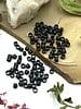 2x2 Jet Matte Black Tube Crimp Bead-100pc