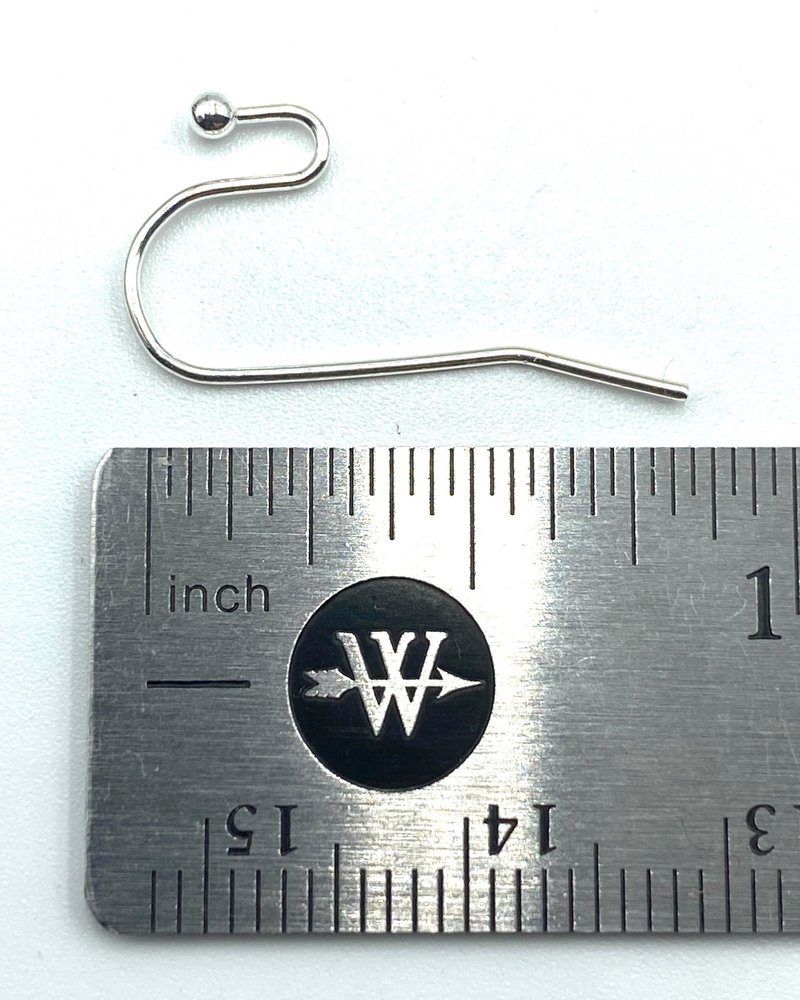 SILVER French Earwire with 2mm Ball